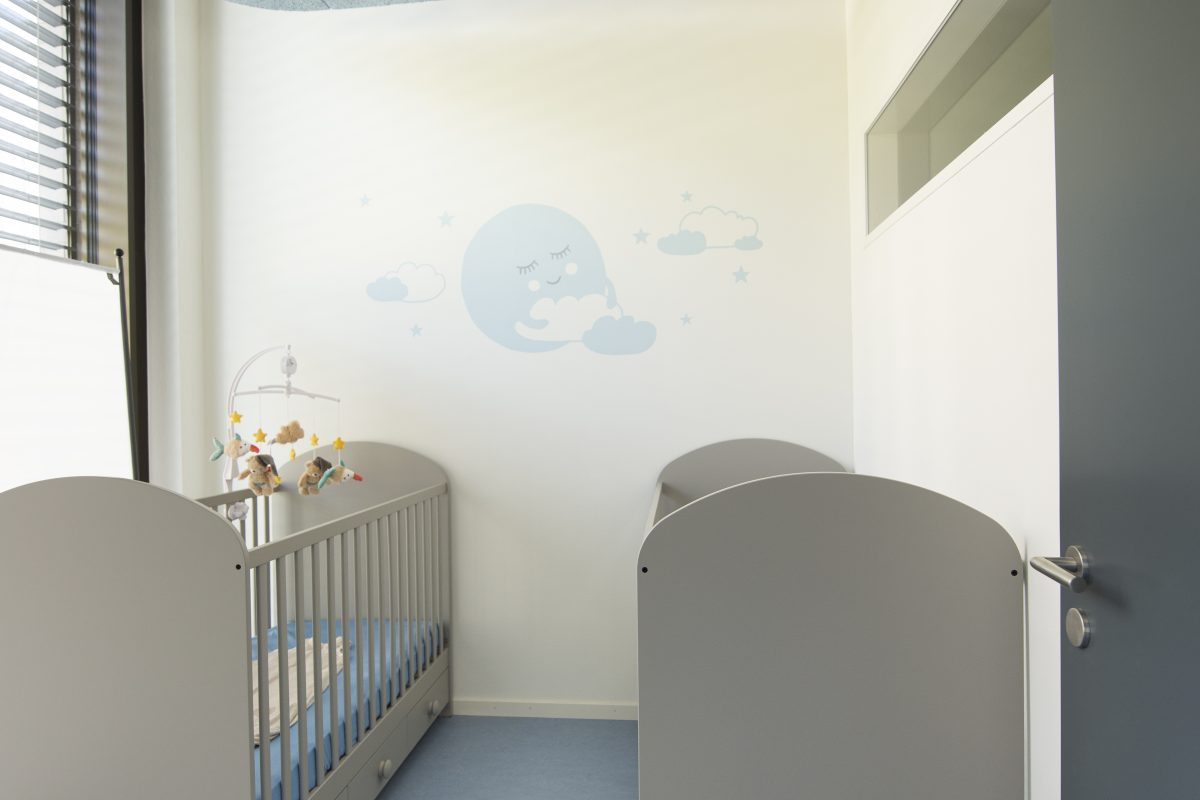 Blauwal Babyruheraum